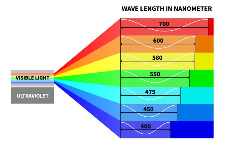Light spectrum and our eyes