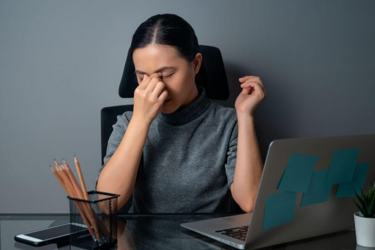 Digital eye strain from looking at a screen